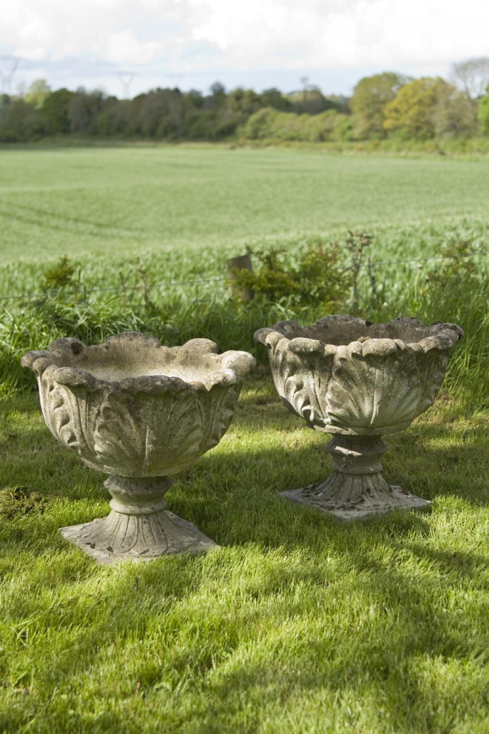 Pair of Vintage Tulip Urns c.1985