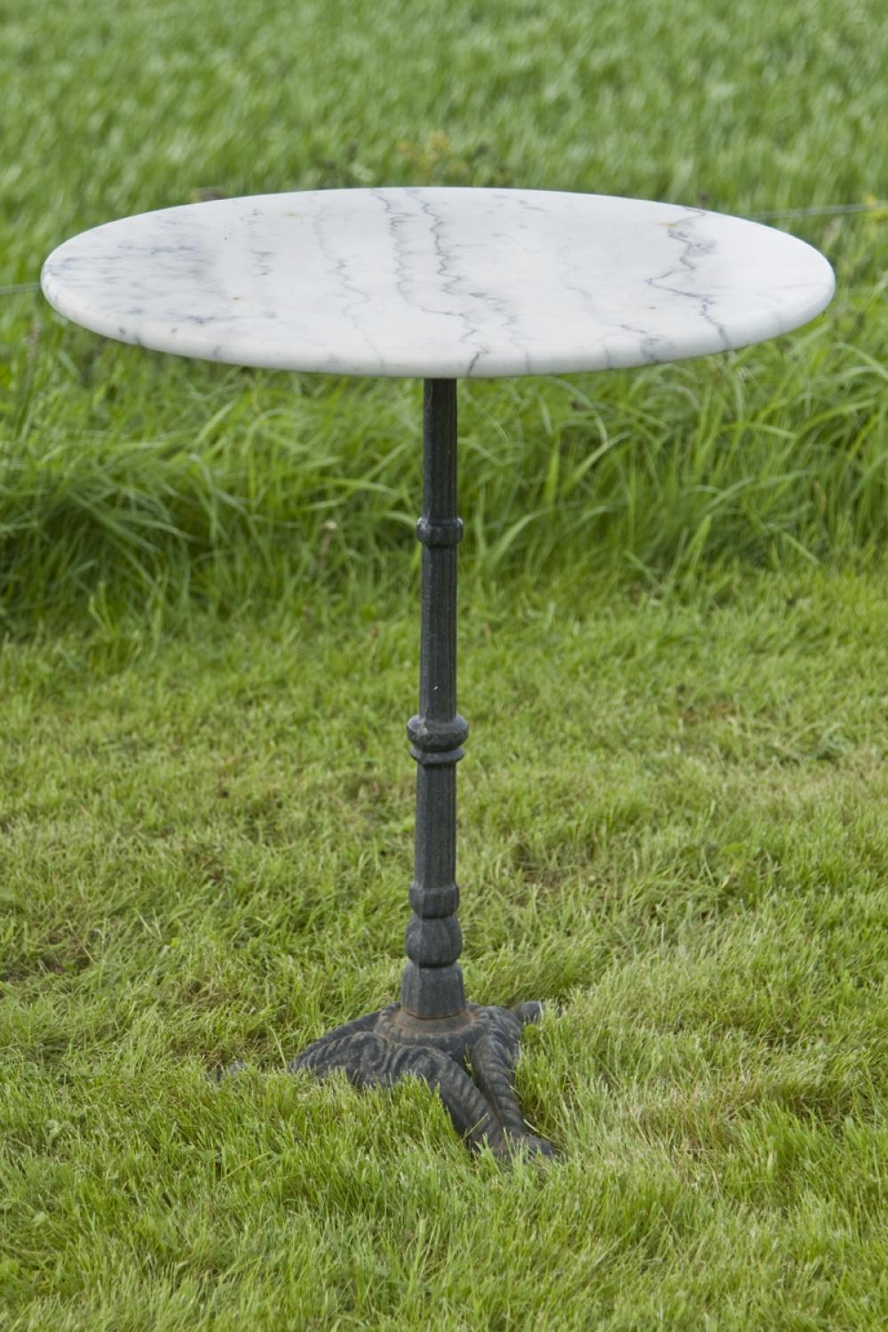 ... Antique French Marble Top Bistro Table C.1930   Picture 2 ...