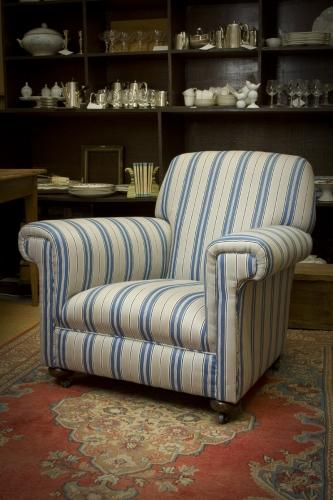 Edwardian easy armchair