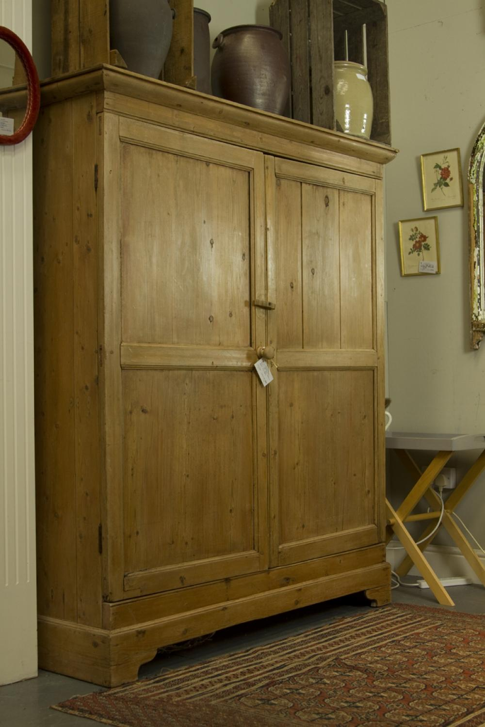 Antique Pine Larder Cupboard - Antique Pine Larder Cupboard In Furniture