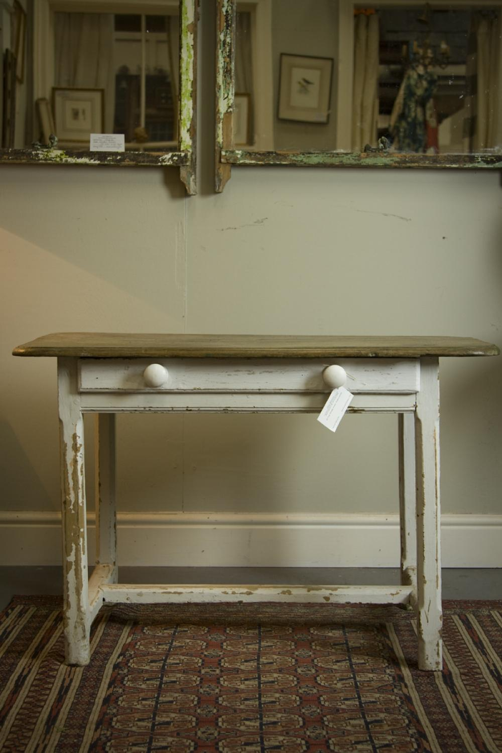 Antique French side table with drawer