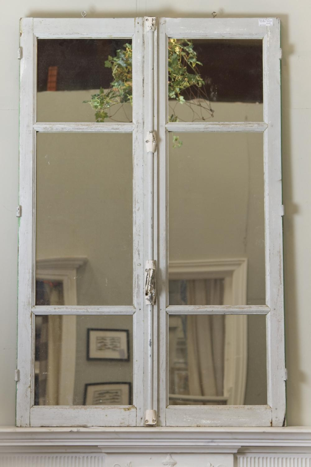 ... Pair Of Vintage French Door Mirrors   Picture 2