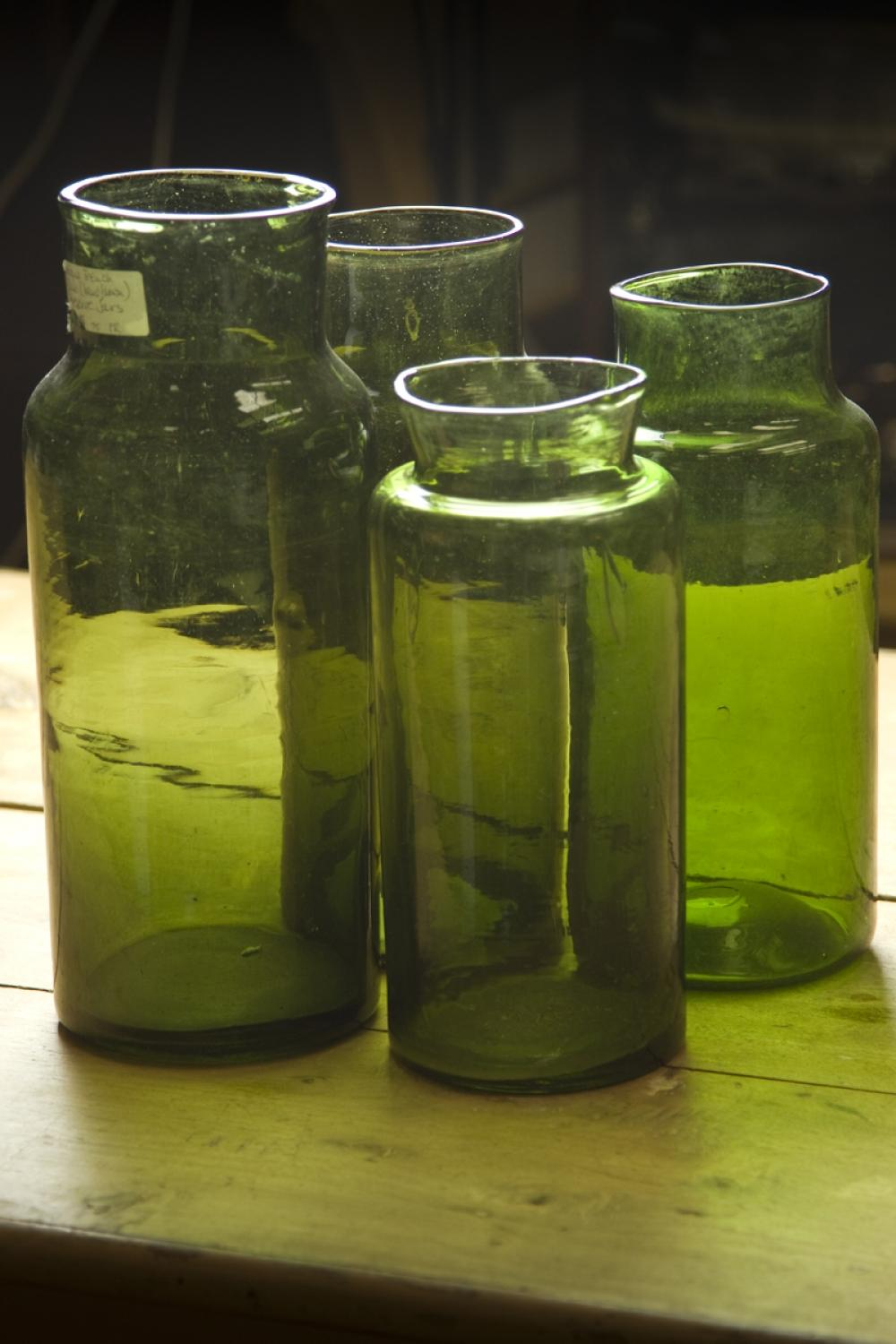 Antique French Glass Preserve Jars