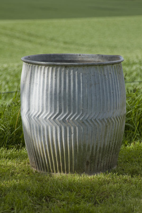 Vintage Zinc Dolly Tub