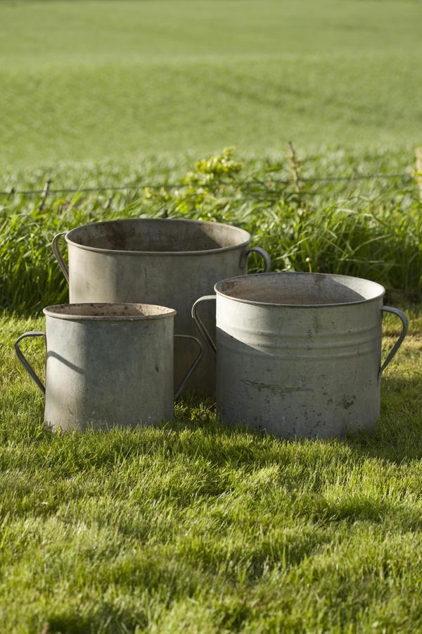 Vintage Zinc Pots