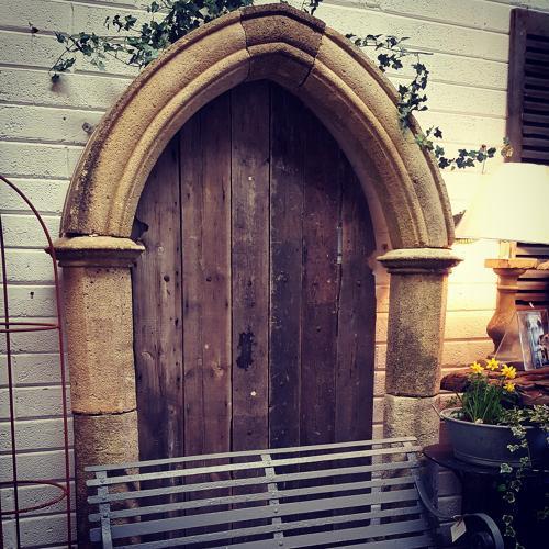 Vintage Gothic Stone Garden Arch Surround