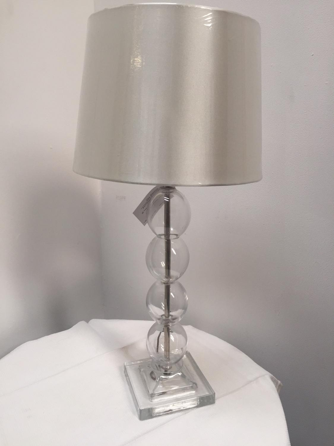 Glass Bauble Lamp with Silver Shade