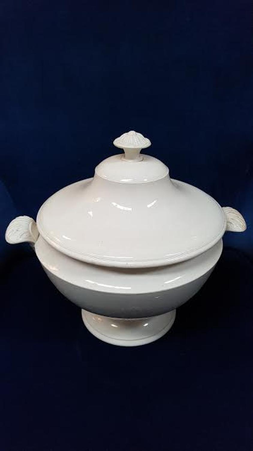 Vintage French Soup Tureen in Glass& Table Top