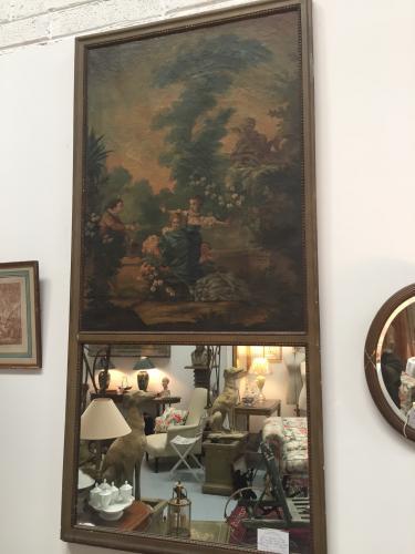 19th C French Trumeau Mirror