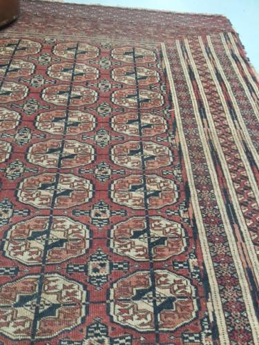 Antique Teke Turkmen Rug