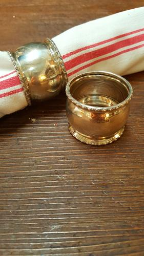 Pair of Antique Silver Napkin Rings
