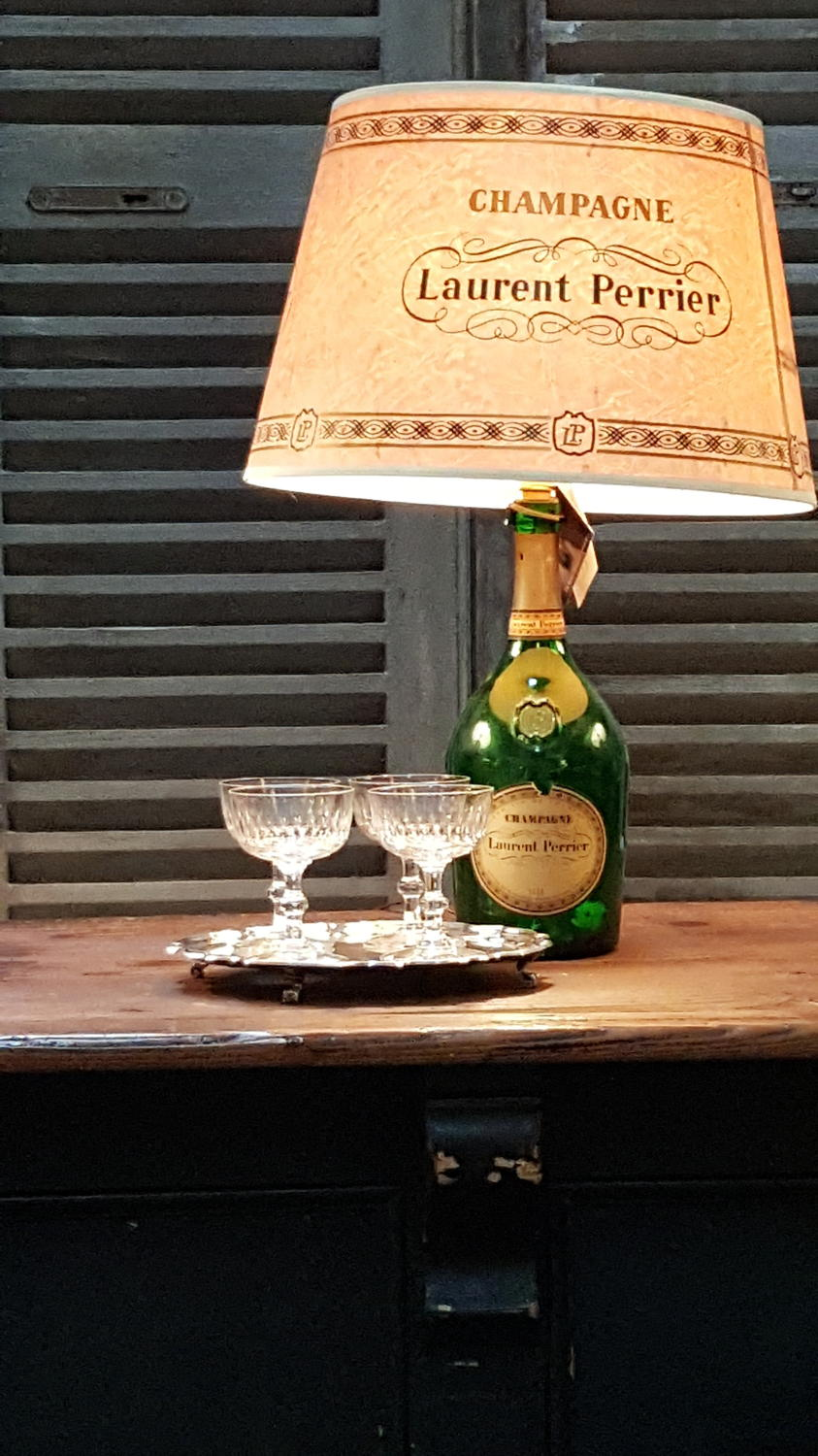 Vintage Laurent Perrier Lamp