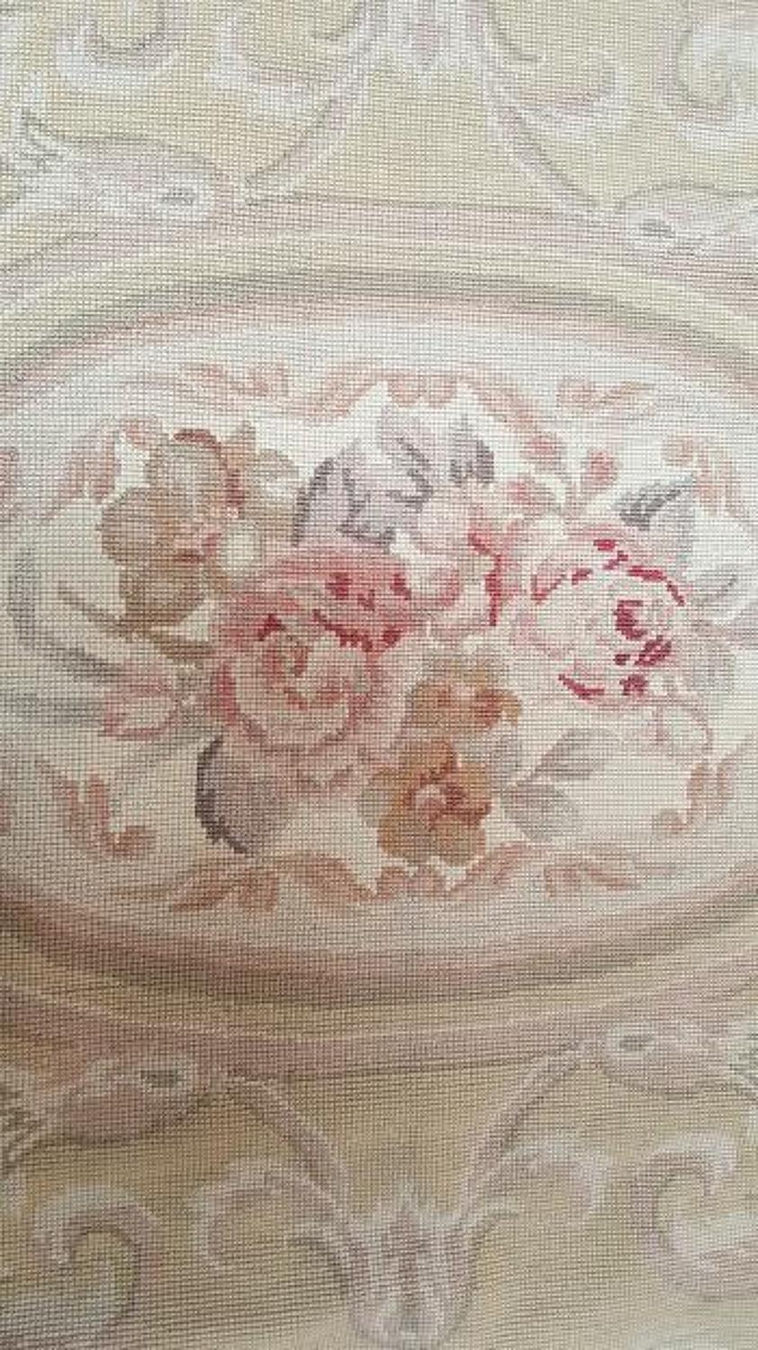Vintage Aubusson Style Needlepoint Tapestry