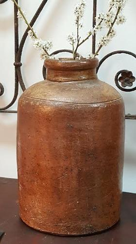 Antique French Stoneware Pot