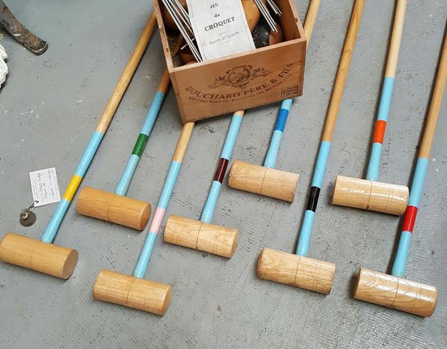 Vintage French Croquet Set