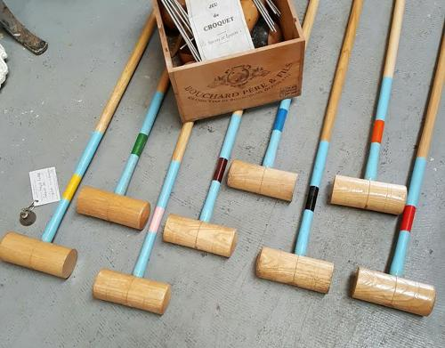 Vintage French Croquet Set