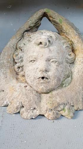 Vintage French Stone Cherub