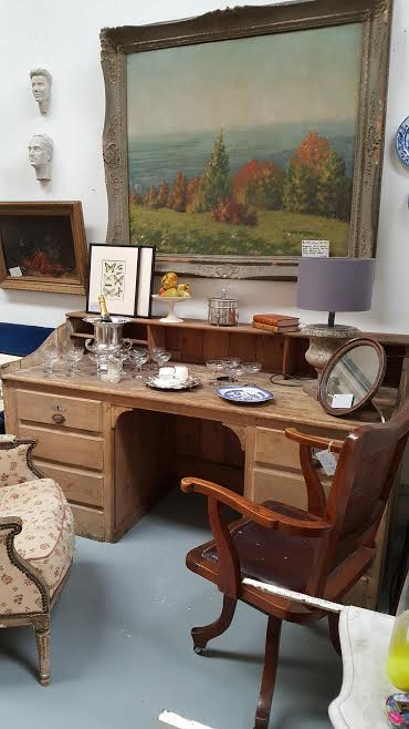 Large French Pine Desk Picture 3
