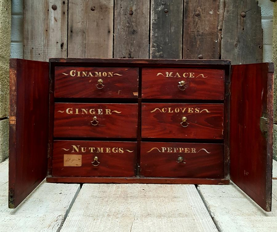 Set of Vintage Spice Drawers