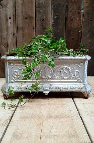 Antique French Cast Iron Rectangular Jardinere
