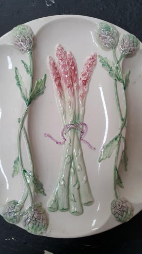 Antique French Asparagus Plates