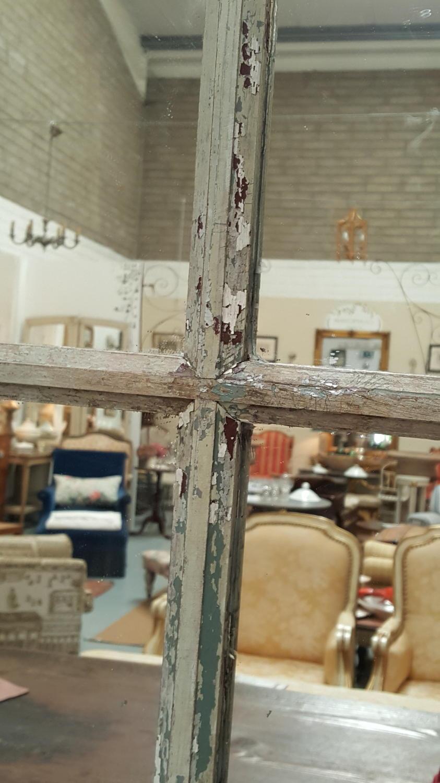 Vintage French Window Pane Mirror