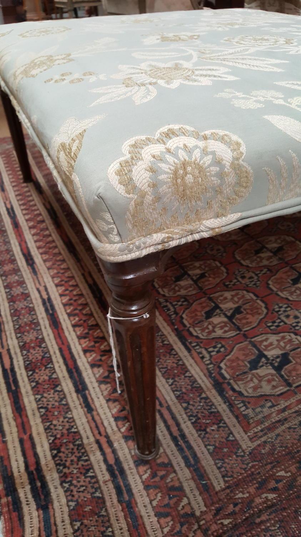 George III style upholstered footstool ottoman