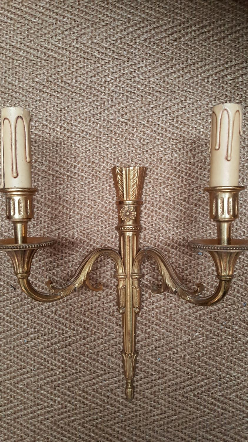 Selection of French Brass Light Fittings