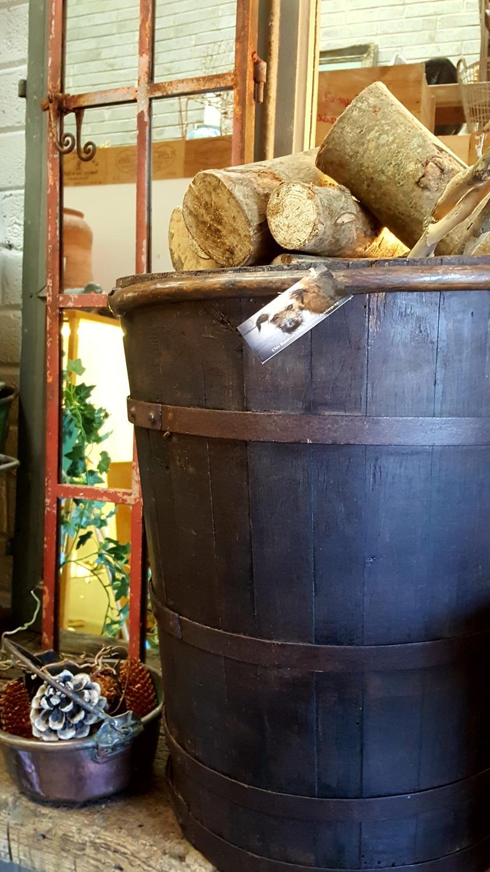 French Grape Hod Oak log bin