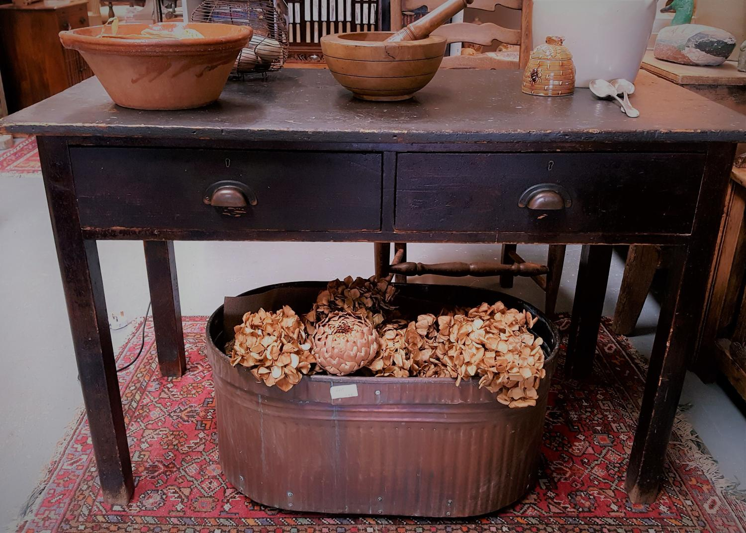 Victorian pine table