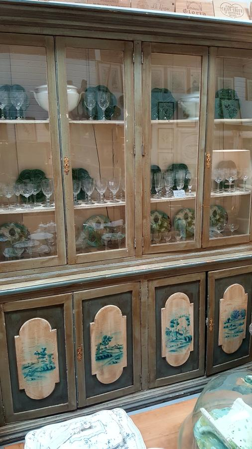 Painted French display case