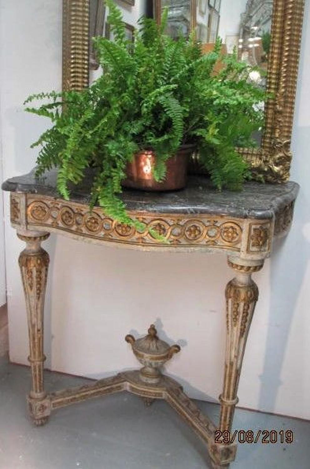 18th century French provincial console table