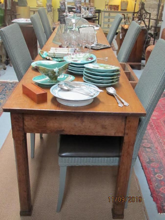Antique French farmhouse pine table