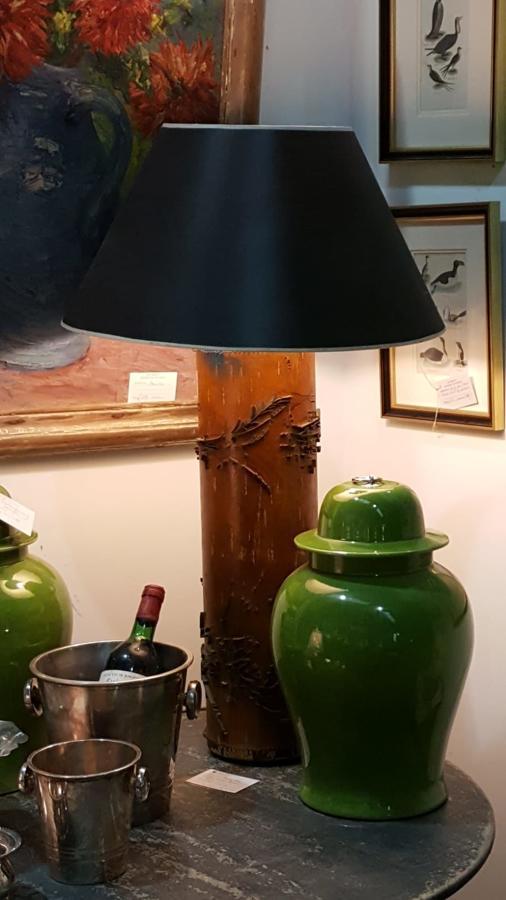 Vintage silk roller lamp bases