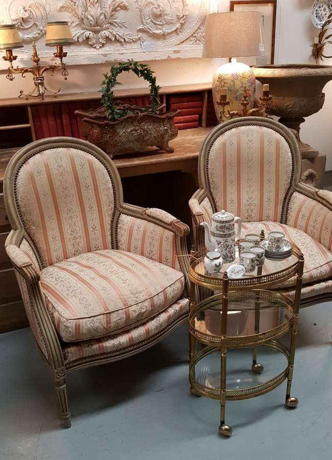 Pair of French Antique occasional chairs