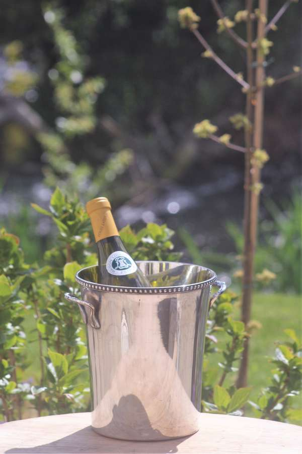 Early 20th C French silver plate wine cooler