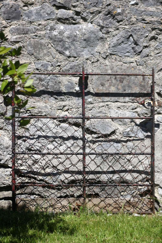 19th C hand forged garden gate