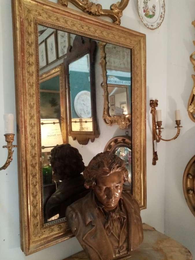19thC French gilt mirror