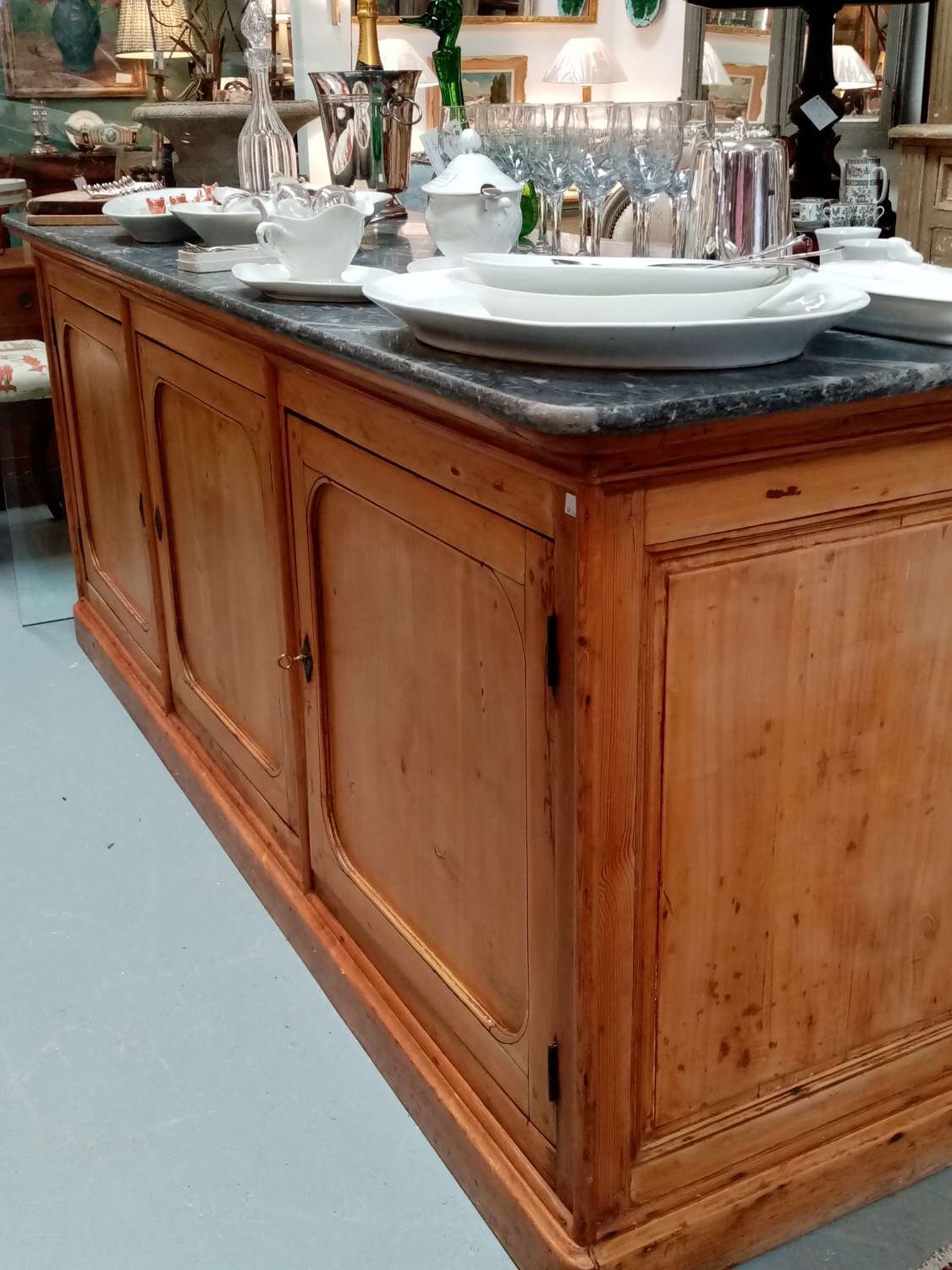 Antique pine counter or kitchen island