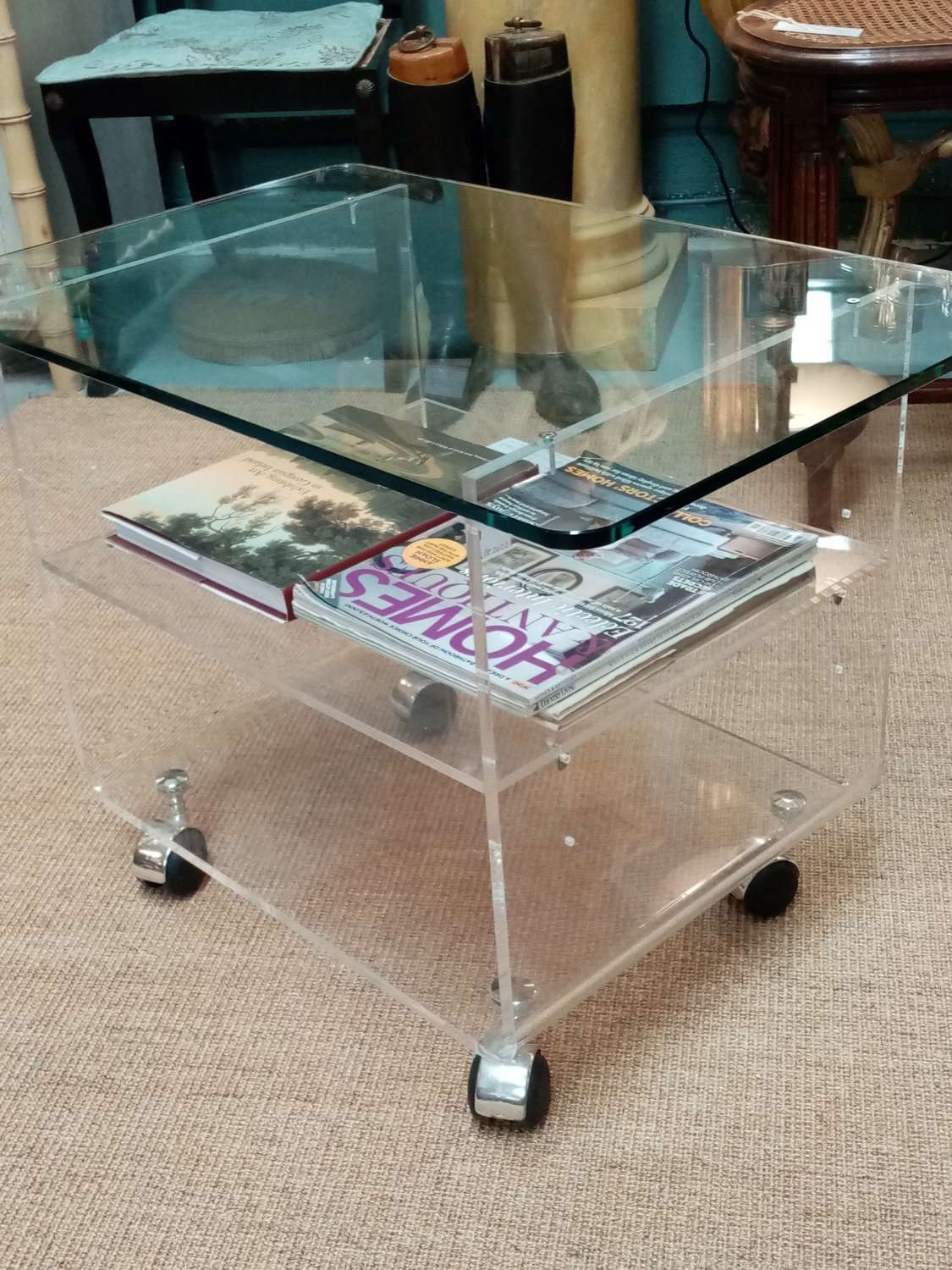 Mid century designer trolley table