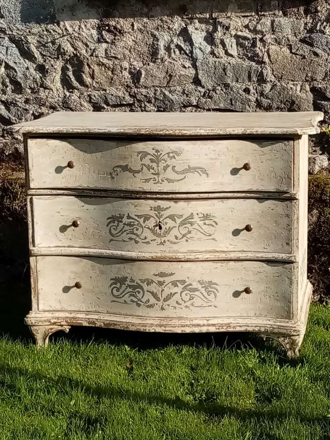 18th Century French painted commode chest