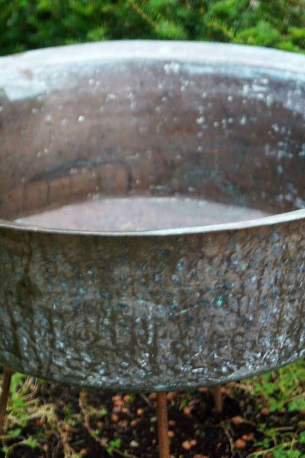Vintage copper vessel