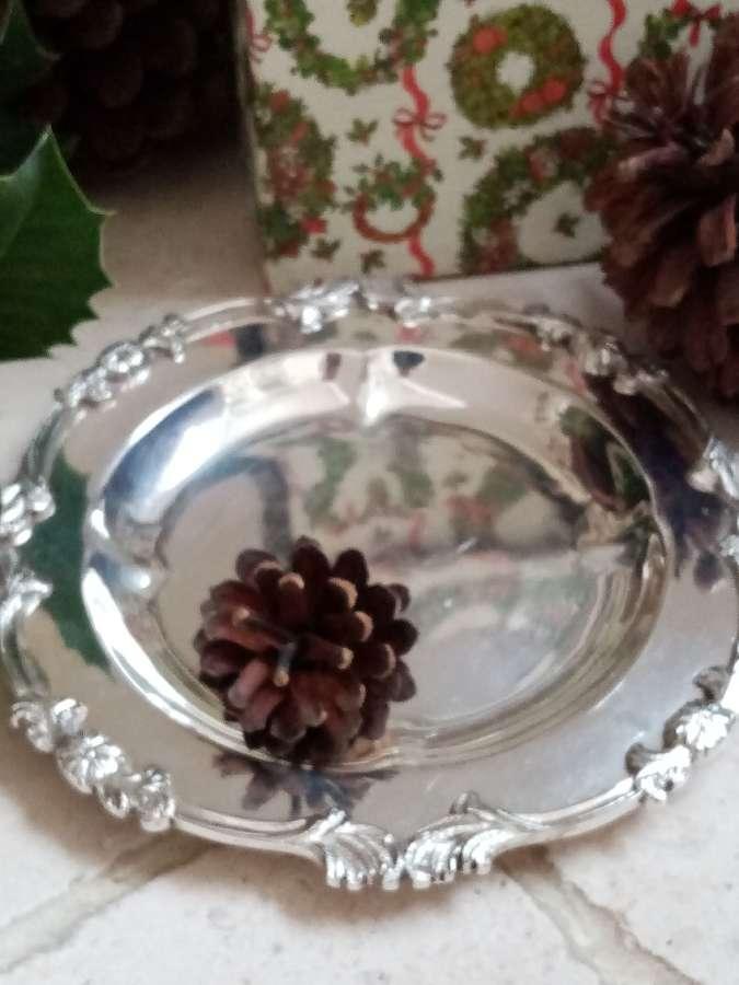 Silver plate bonbon dish