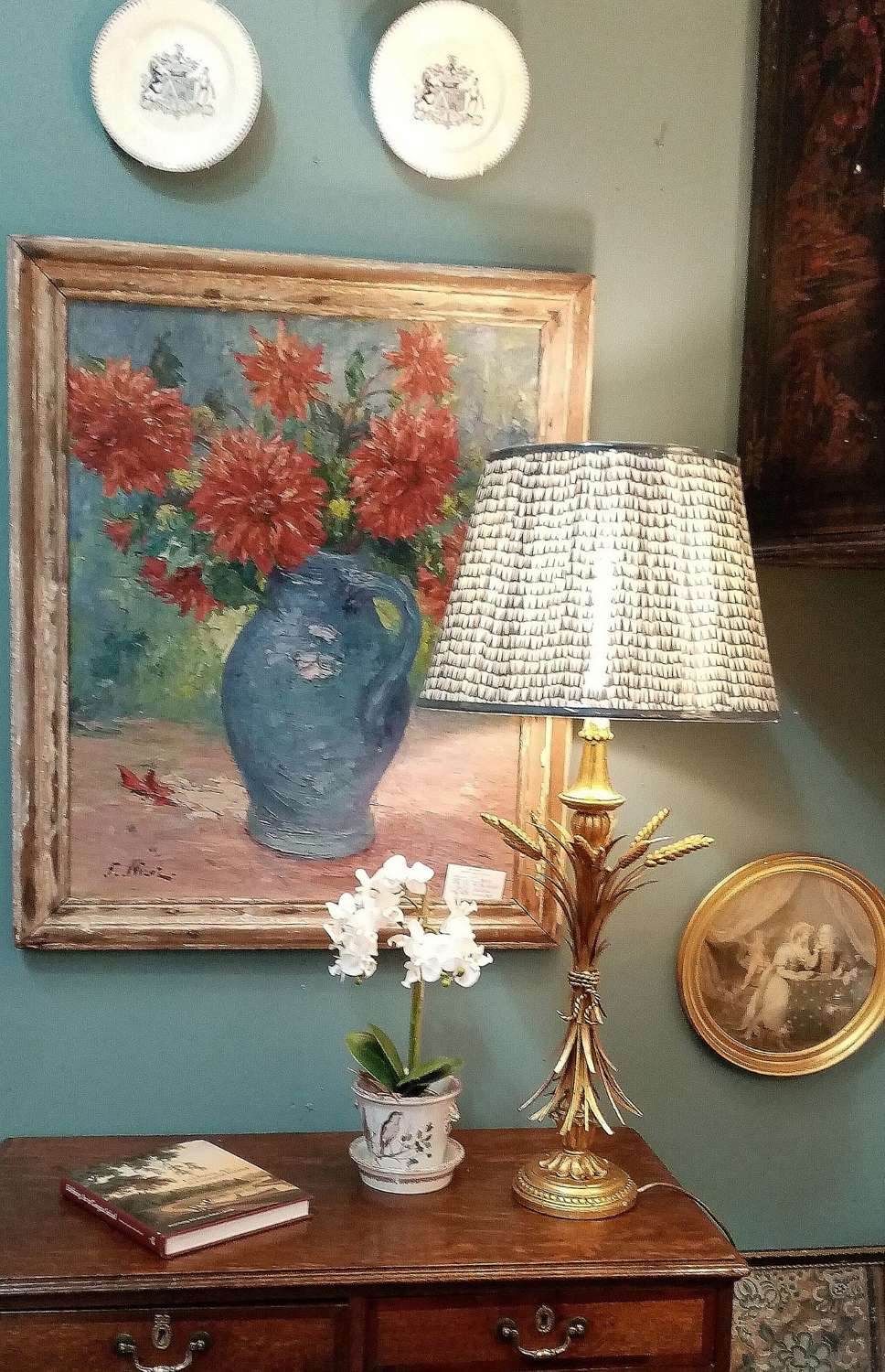Mid century French sheaf of wheat table lamp