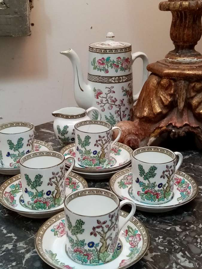 Vintage Indian tree part coffee set