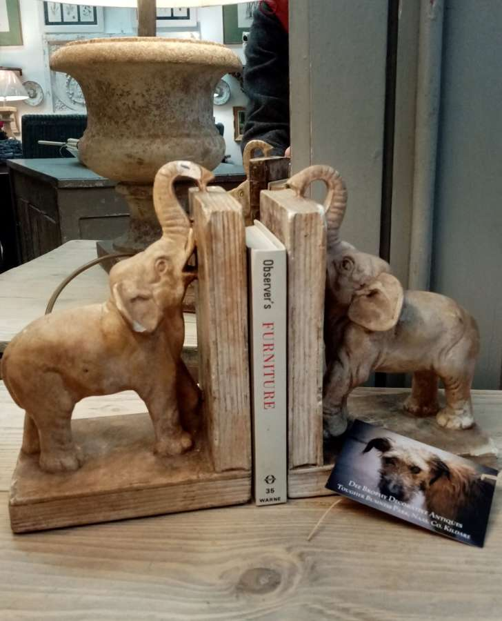 Pair of French Elephant bookends