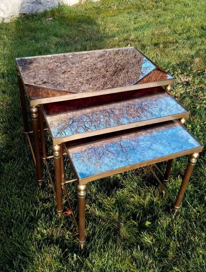 French mid century nest of tables